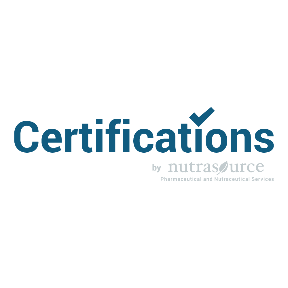 Certifications by Nutrasource
