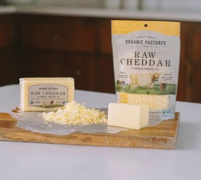 Organic Pastures Raw Cheddar Cheese