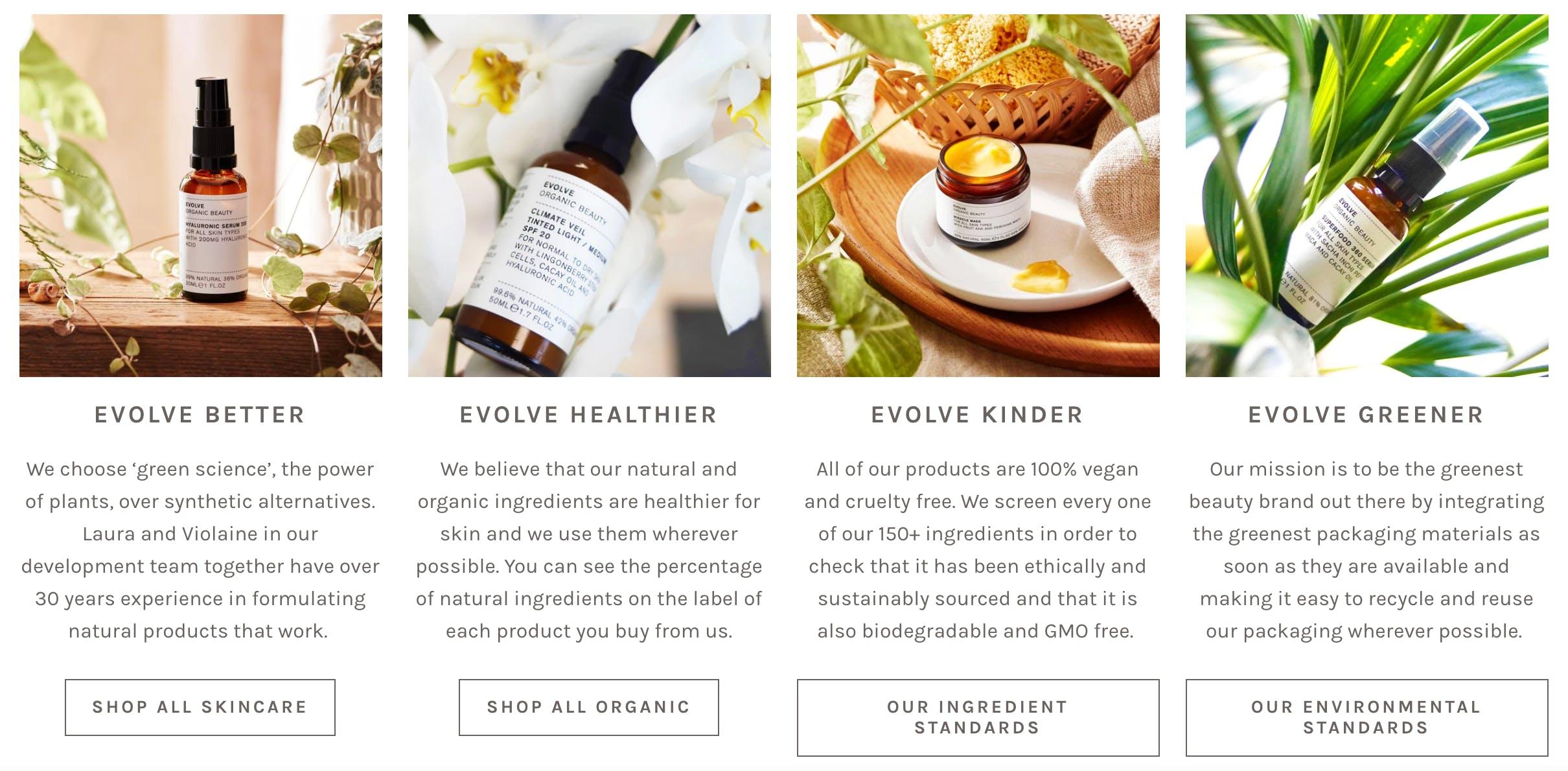 Evolve Beauty Website